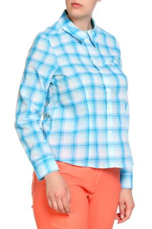 Блуза FIORA BLUE. Цвет: синий