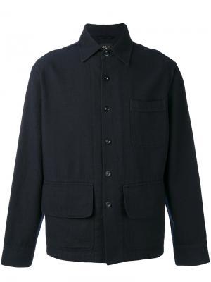 Рубашка с косым воротником Bellerose. Цвет: синий