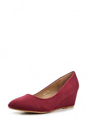Туфли Encor. Цвет: бордовый