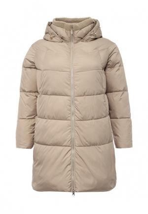 Куртка утепленная Clasna. Цвет: бежевый