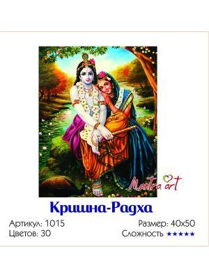 Живопись на холсте Кришна-Радха + диск в подарок MantraArt. Цвет: белый
