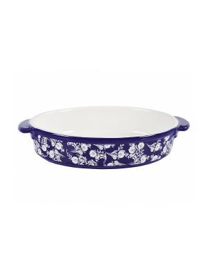 Форма для запекания керамика 21*16*6см Peterhof. Цвет: синий