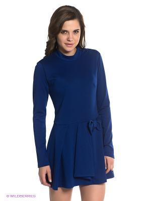 Платье BSB. Цвет: синий