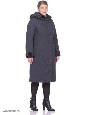 Пальто Brillare. Цвет: темно-серый