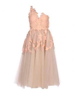 Платье длиной 3/4 RHEA COSTA. Цвет: телесный