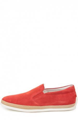 Слипоны Tod's. Цвет: красный