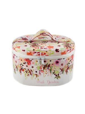 Шкатулка для ювелирных украшений Русские подарки. Цвет: розовый, кремовый