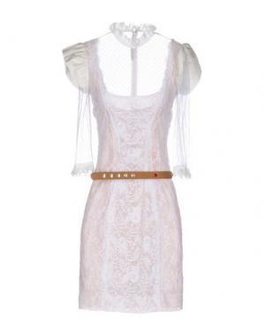 Короткое платье ALESSANDRA RICH. Цвет: белый