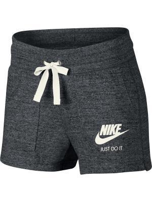 Шорты W NSW GYM VNTG SHORT Nike. Цвет: темно-серый