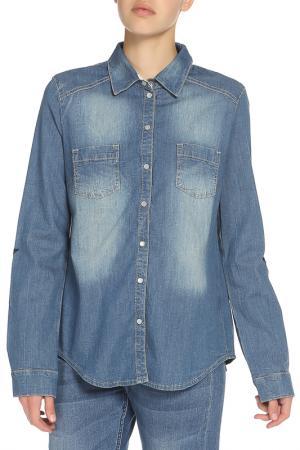 Рубашка OUI. Цвет: синий