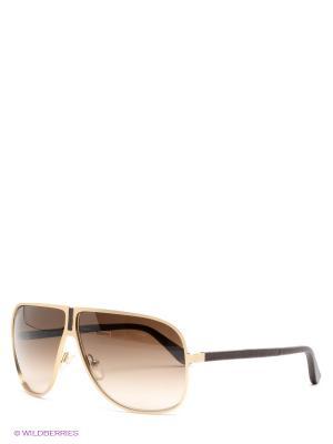 Солнцезащитные очки Salvatore Ferragamo. Цвет: темно-коричневый, золотистый
