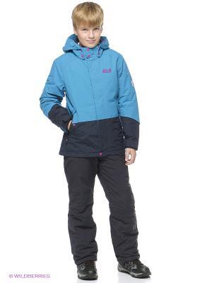 Куртка SNOW RIDE TEXAPORE INS JKT G Jack Wolfskin. Цвет: голубой
