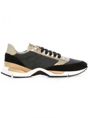 Кроссовки с панельным дизайном Brunello Cucinelli. Цвет: чёрный