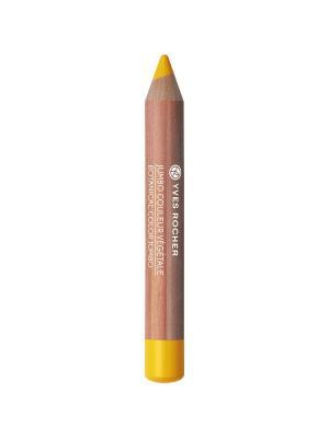 Тени-карандаш для век матовые 02 Желтая Мимоза Yves Rocher. Цвет: желтый