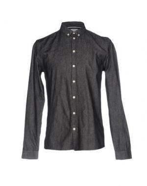 Джинсовая рубашка MINIMUM. Цвет: черный