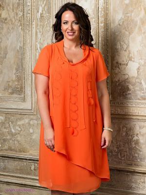 Платье Gemko plus size. Цвет: оранжевый