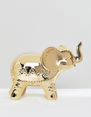 New Look Копилка в форме золотистого слона. Цвет: золотой