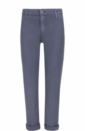 Хлопковые брюки прямого кроя Ag. Цвет: синий