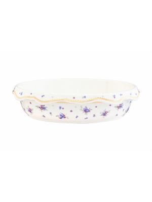 Блюдо-шубница Сиреневый туман Elan Gallery. Цвет: белый, голубой, сиреневый