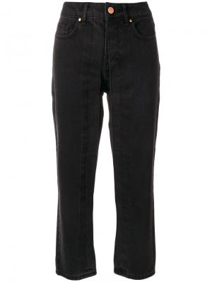 Fixed pleat cropped jeans Aalto. Цвет: чёрный