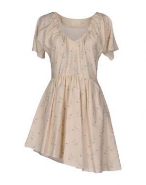 Короткое платье GIRL by BAND OF OUTSIDERS. Цвет: бежевый