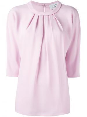 Блузка со сборками Gianluca Capannolo. Цвет: розовый и фиолетовый