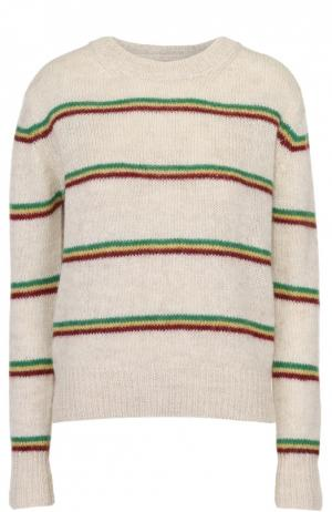 Пуловер прямого кроя в контрастную полоску Isabel Marant Etoile. Цвет: кремовый