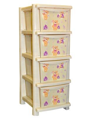 Детский комод для детской комнаты Bears 335мм Little Angel. Цвет: бежевый