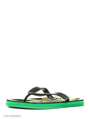 Шлепанцы Mon Ami. Цвет: черный, зеленый
