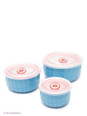 Набор контейнеров Bekker. Цвет: голубой