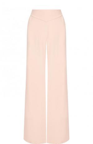 Однотонные расклешенные брюки из шелка Ralph Lauren. Цвет: светло-розовый