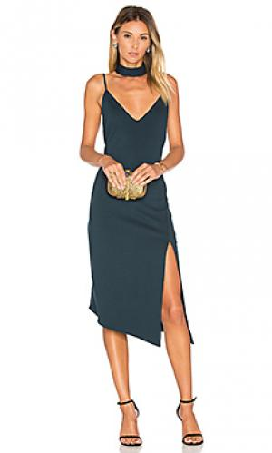 Платье миди nena Backstage. Цвет: темно-зеленый