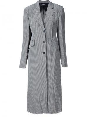 Пальто в клетку Yang Li. Цвет: чёрный