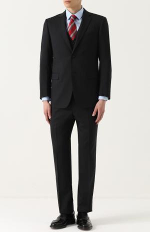 Шерстяной костюм-тройка Lanvin. Цвет: черный