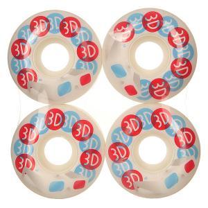Колеса для скейтборда  Glasses White/Red/Light Blue 98A 52 mm 3D. Цвет: розовый,белый,голубой