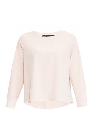 Блуза из вискозы и искусственного шелка 161184 Anna Dubovitskaya. Цвет: бежевый