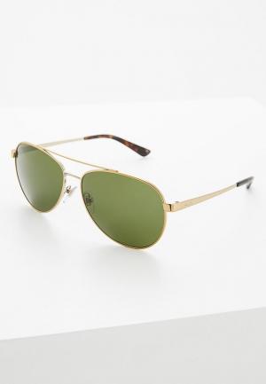 Очки солнцезащитные DKNY. Цвет: золотой
