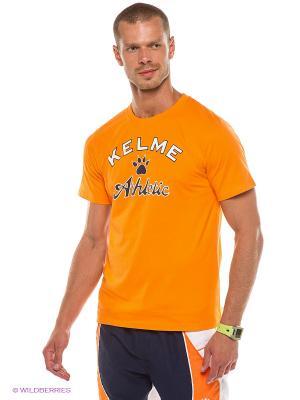 Футболка KELME. Цвет: оранжевый