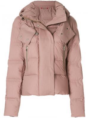 Приталенная дутая куртка Peuterey. Цвет: коричневый