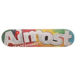 Дека для скейтборда  S6 Hyb Art School Tea 31.1 x 7.5 (19.1 см) Almost. Цвет: мультиколор