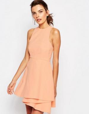 C/meo Collective Золотистое платье мини Fools. Цвет: розовый