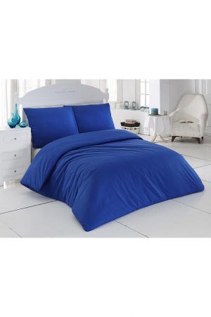Комплект постельного белья Majoli Bahar Home Collection. Цвет: dark blue