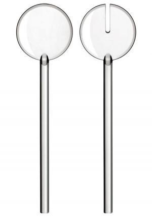 Приборы для салата Tiffany (2 пр.) Guzzini. Цвет: белый (прозрачный)