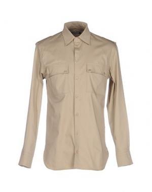 Pубашка NINEMINUTES. Цвет: бежевый