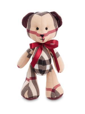 Игрушка лоскутная Медведь Art East. Цвет: бежевый