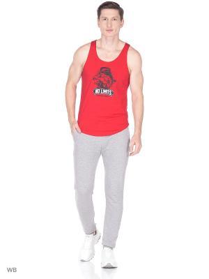 Майка спортивная GET BIG. Цвет: красный