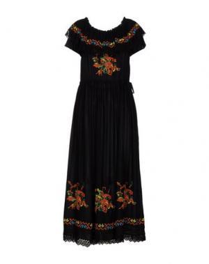 Длинное платье CLIPS MORE. Цвет: черный