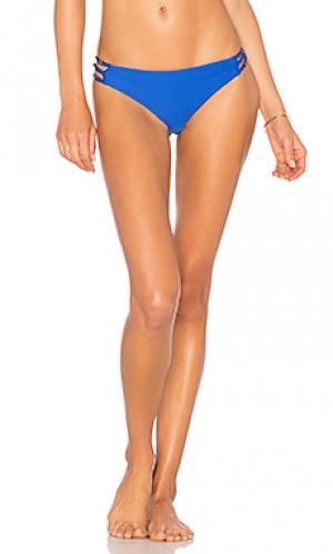 Низ бикини с пряжками по бокам juliet solids Ella Moss. Цвет: королевский синий