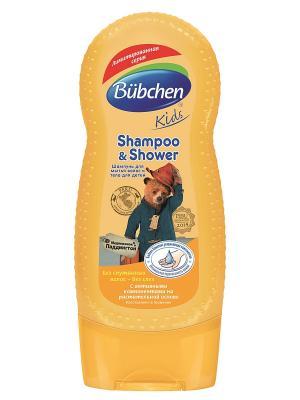 Шампунь для волос и тела Медвежонок Паддингтон, 230 мл. Bubchen. Цвет: светло-коричневый