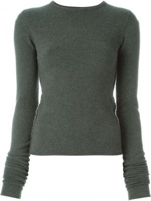 Свитер No. 4 Base Short Extreme Cashmere. Цвет: зелёный